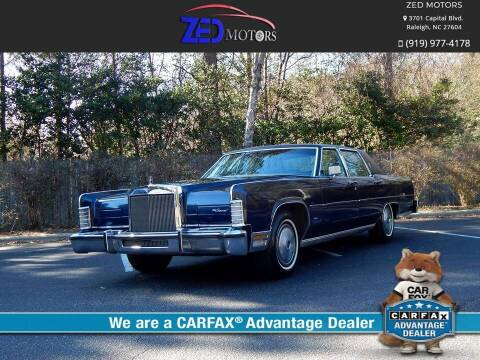 1979 Lincoln Town Car for sale at Zed Motors in Raleigh NC