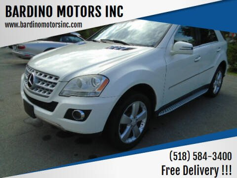 2011 Mercedes-Benz M-Class for sale at BARDINO MOTORS INC in Saratoga Springs NY