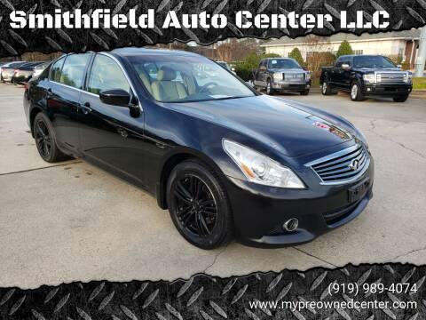 2013 Infiniti G37 Sedan for sale at Smithfield Auto Center LLC in Smithfield NC