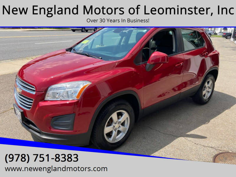 2015 Chevrolet Trax for sale at New England Motors of Leominster, Inc in Leominster MA