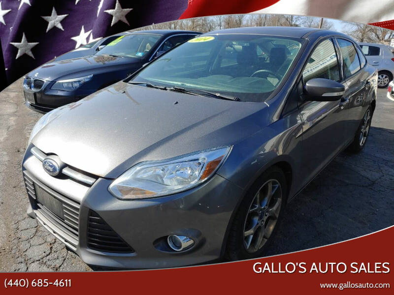2014 Ford Focus for sale at Gallo's Auto Sales in North Bloomfield OH
