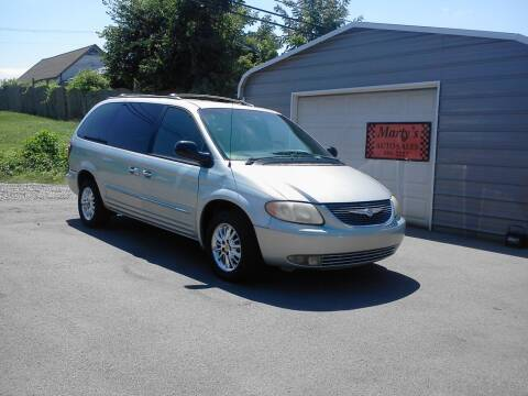 2001 Chrysler Town and Country for sale at Marty's Auto Sales in Lenoir City TN