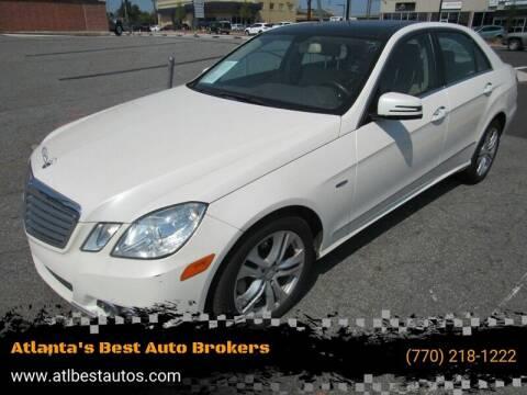 2011 Mercedes-Benz E-Class for sale at Atlanta's Best Auto Brokers in Marietta GA