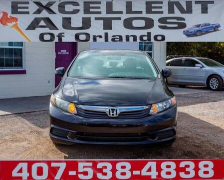 2012 Honda Civic for sale at Excellent Autos of Orlando in Orlando FL