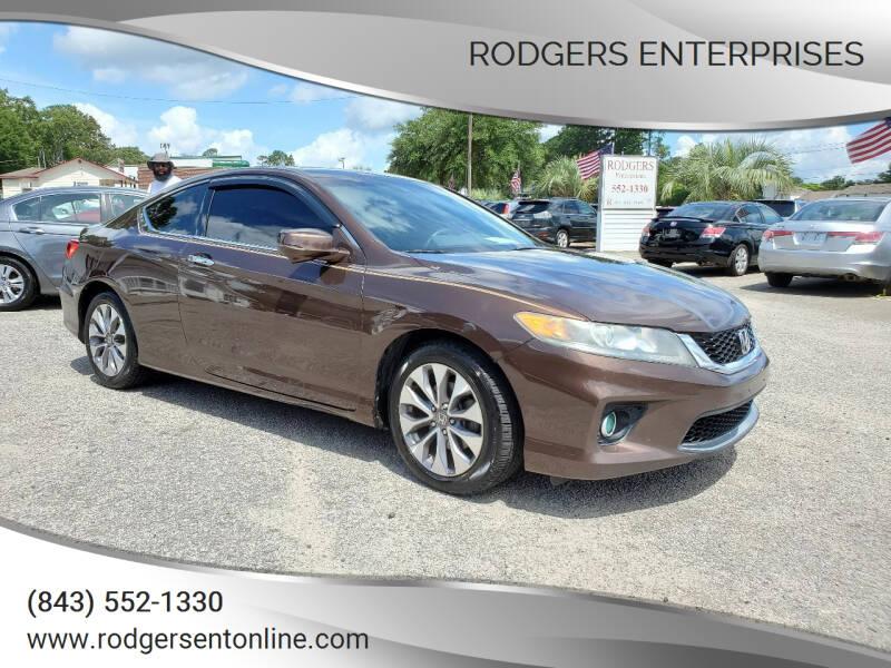 2013 Honda Accord for sale at Rodgers Enterprises in North Charleston SC