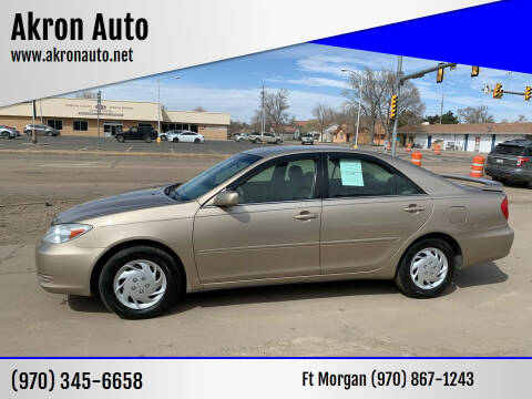 2003 Toyota Camry for sale at Akron Auto - Fort Morgan in Fort Morgan CO