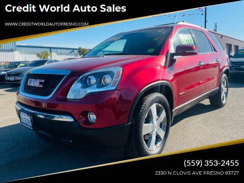 2012 GMC Acadia for sale at Credit World Auto Sales in Fresno CA