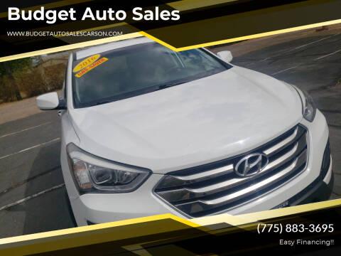 2016 Hyundai Santa Fe Sport for sale at Budget Auto Sales in Carson City NV