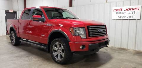 2012 Ford F-150 for sale at Matt Jones Motorsports in Cartersville GA