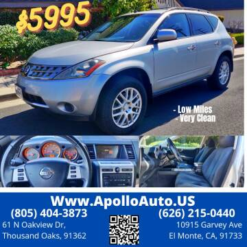 2007 Nissan Murano for sale at Apollo Auto El Monte in El Monte CA
