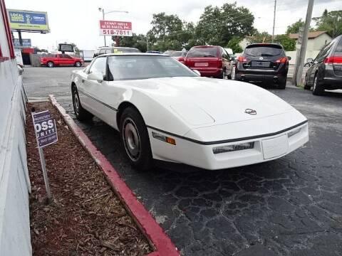 1984 Chevrolet Corvette for sale at DONNY MILLS AUTO SALES in Largo FL