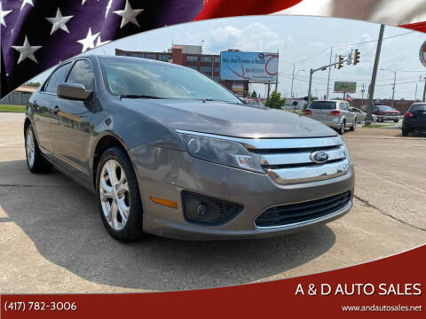 2012 Ford Fusion for sale at A & D Auto Sales in Joplin MO