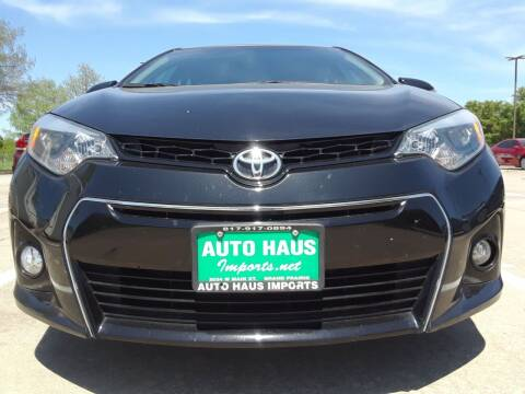 2016 Toyota Corolla for sale at Auto Haus Imports in Grand Prairie TX