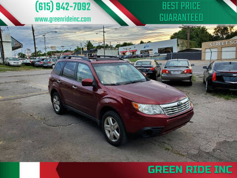 2009 Subaru Forester for sale at Green Ride Inc in Nashville TN
