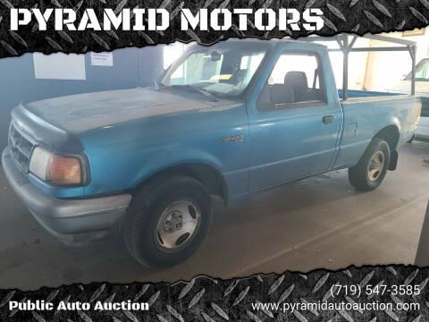 1993 Ford Ranger for sale at PYRAMID MOTORS - Pueblo Lot in Pueblo CO