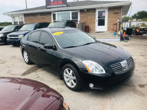 2006 Nissan Maxima for sale at I57 Group Auto Sales in Country Club Hills IL