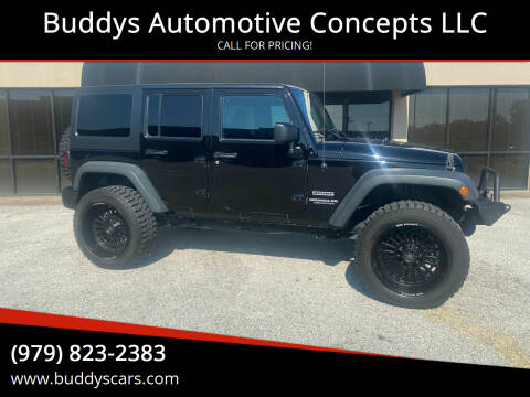 2017 Jeep Wrangler Unlimited for sale at Buddys Automotive Concepts LLC in Bryan TX