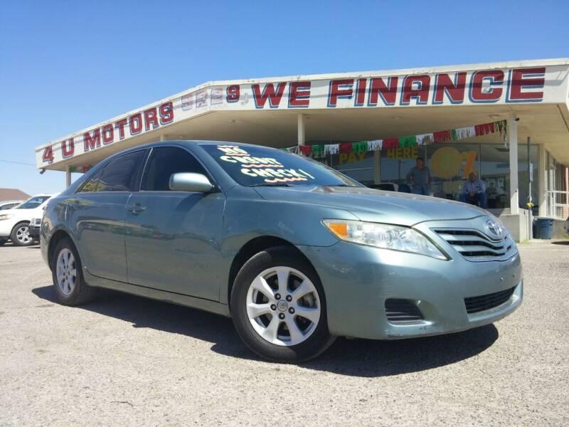 2011 Toyota Camry for sale at 4 U MOTORS in El Paso TX