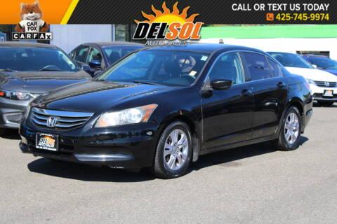 2012 Honda Accord for sale at Del Sol Auto Sales in Everett WA