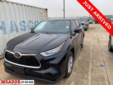 2020 Toyota Highlander for sale at Meador Dodge Chrysler Jeep RAM in Fort Worth TX