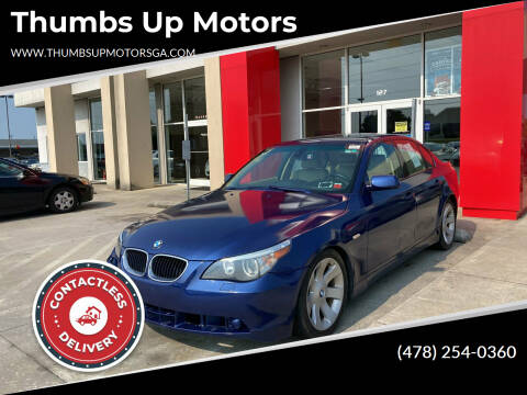 2004 BMW 5 Series for sale at Thumbs Up Motors in Warner Robins GA