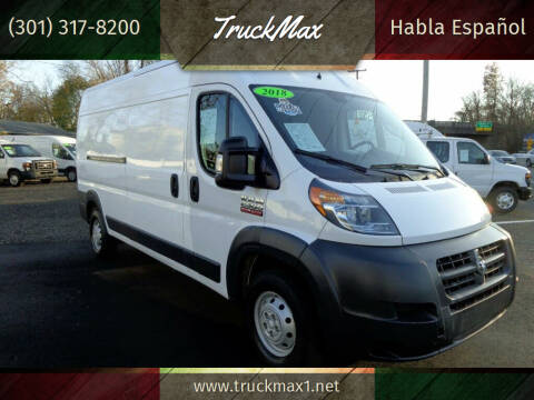 2018 RAM ProMaster Cargo for sale at TruckMax in N. Laurel MD