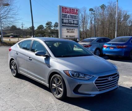 2017 Hyundai Elantra for sale at Reliable Cars & Trucks LLC in Raleigh NC