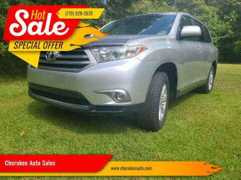 2013 Toyota Highlander for sale at Cherokee Auto Sales in Acworth GA