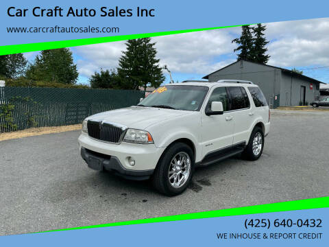 2004 Lincoln Aviator for sale at Car Craft Auto Sales Inc in Lynnwood WA