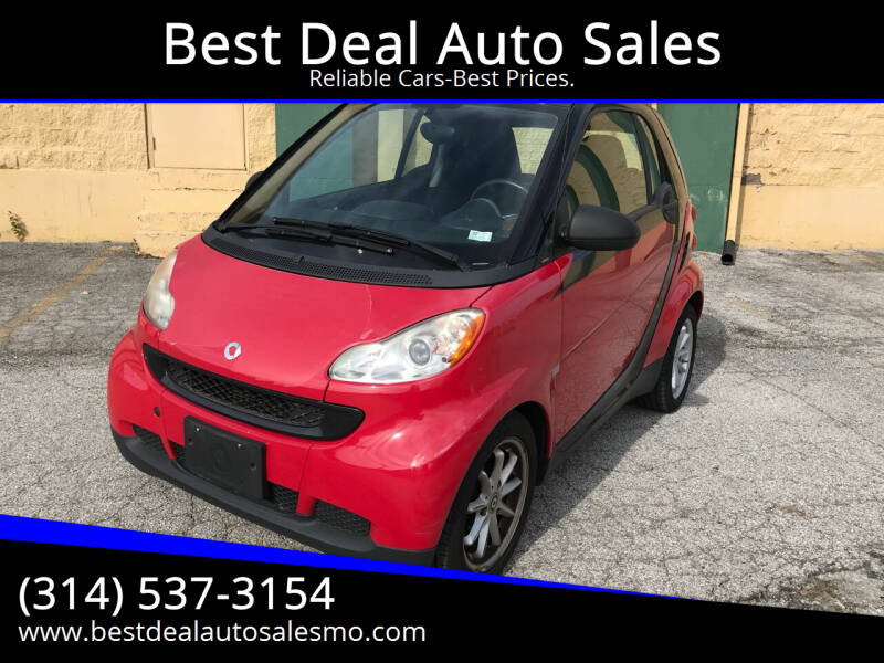 2009 Smart fortwo for sale at Best Deal Auto Sales in Saint Charles MO