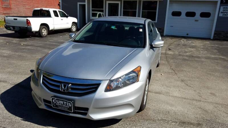 2012 Honda Accord for sale at CURTIS AUTO SALES in Pittsford VT