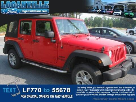 2016 Jeep Wrangler Unlimited for sale at Loganville Quick Lane and Tire Center in Loganville GA