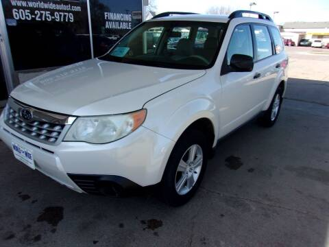 2011 Subaru Forester for sale at World Wide Automotive in Sioux Falls SD
