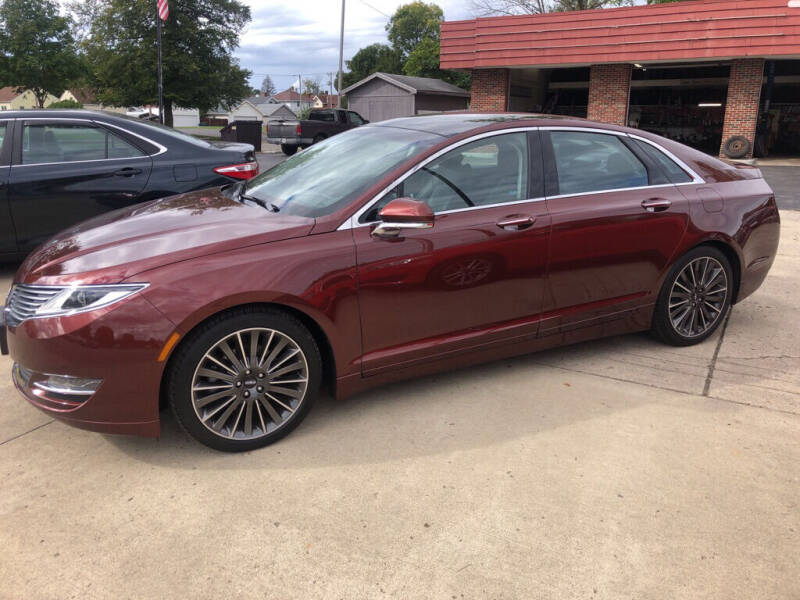 2016 Lincoln MKZ for sale at Tonys Car Sales in Richmond IN