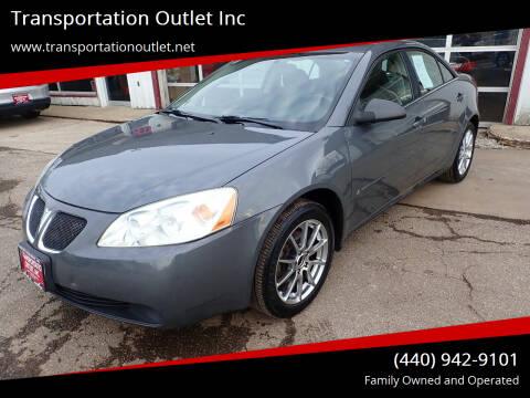 2008 Pontiac G6 for sale at Transportation Outlet Inc in Eastlake OH
