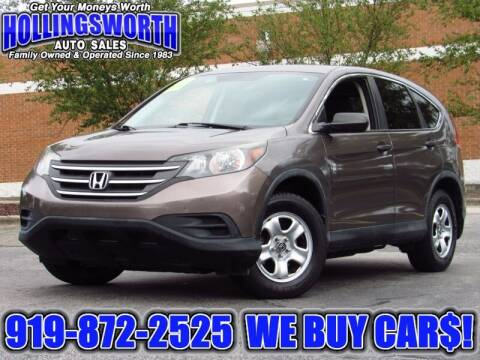 2014 Honda CR-V for sale at Hollingsworth Auto Sales in Raleigh NC