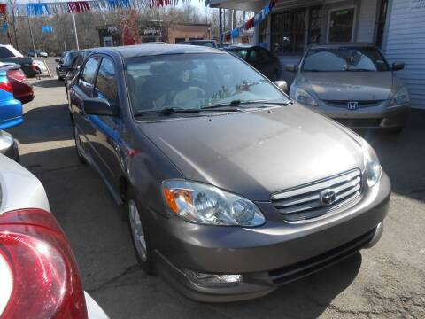 2003 Toyota Corolla for sale at N H AUTO WHOLESALERS in Roslindale MA