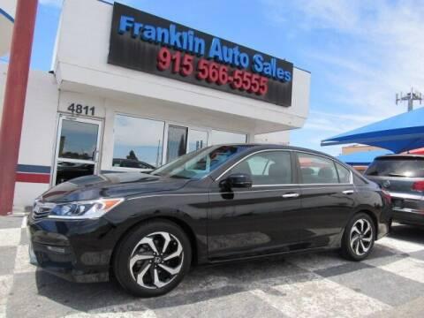 2016 Honda Accord for sale at Franklin Auto Sales in El Paso TX