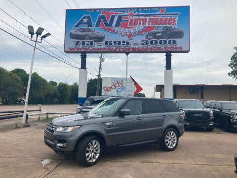 2014 Land Rover Range Rover Sport for sale at ANF AUTO FINANCE in Houston TX