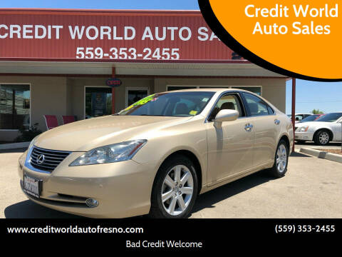 2009 Lexus ES 350 for sale at Credit World Auto Sales in Fresno CA
