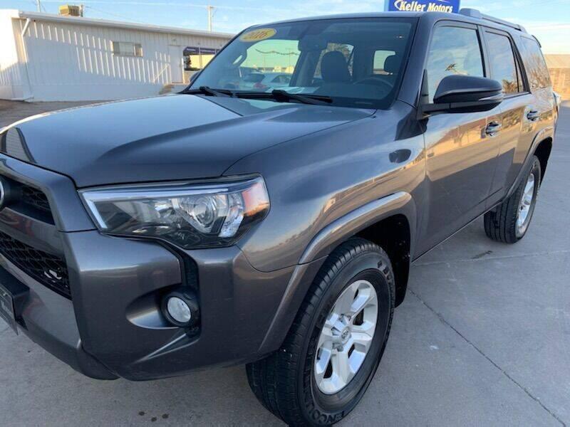 2016 Toyota 4Runner for sale at Keller Motors in Palco KS