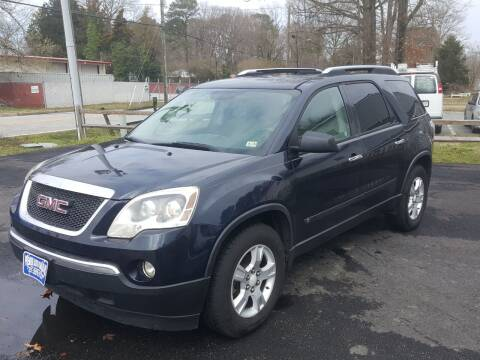 2009 GMC Acadia for sale at Premier Auto Sales Inc. in Newport News VA