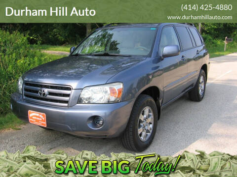 2004 Toyota Highlander for sale at Durham Hill Auto in Muskego WI