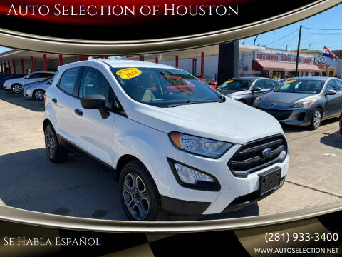 2018 Ford EcoSport for sale at Auto Selection of Houston in Houston TX