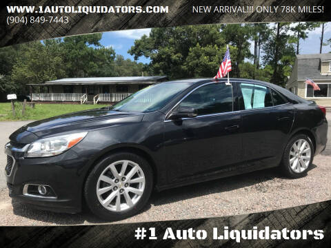 2015 Chevrolet Malibu for sale at #1 Auto Liquidators in Yulee FL