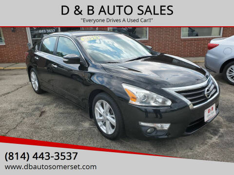2013 Nissan Altima for sale at D & B AUTO SALES in Somerset PA