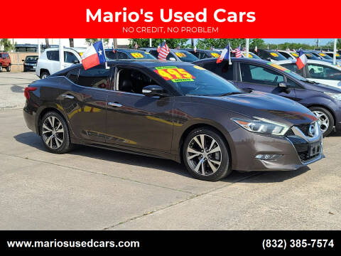 2016 Nissan Maxima for sale at Mario's Used Cars in Houston TX