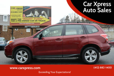 2015 Subaru Forester for sale at Car Xpress Auto Sales in Pittsburgh PA