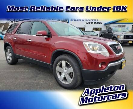 2009 GMC Acadia for sale at Appleton Motorcars Sales & Service in Appleton WI
