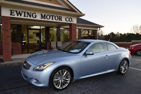 2013 Infiniti G37 Convertible for sale at Ewing Motor Company in Buford GA